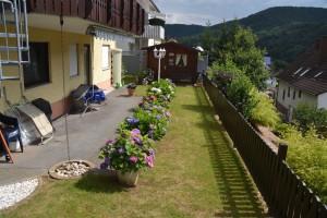 Garten vor der Ferienwohnung